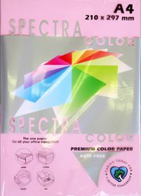 Spectra A4 Pastel Paper 80gsm 500s - Pink IK170