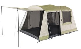 Oztrail Sundowner 6 Person Dome Tent - Cream and Eucalyptus