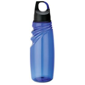 Eco - 700ml Water Bottle With Carabineer Lid - Blue