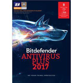 Bitdefender 2017 Anti-Virus 4 user 1 Year - Free Update to 2018