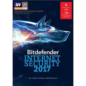 Bitdefender 2017 Internet Security 4 user 1 Year - Free Update to 2018