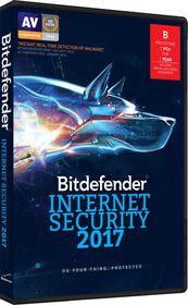 Bitdefender 2017 Internet Security 2 user 1 Year (DVD Case) - Free Update to 2018