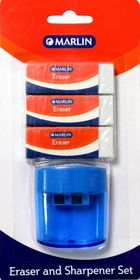 Marlin Eraser and Tub Sharpener Set