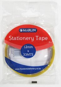 Marlin Stationery Clear Tape - 12mm x 33m