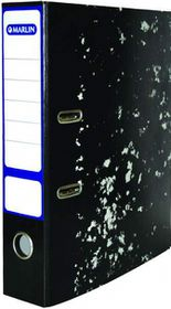 Marlin Lever Arch File Black Mottle - Metal Compressor + Rado Clip