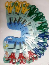 Marlin Kids 130mm Blunt Nose Children's Scissors - Box of 12 Assorted Colours