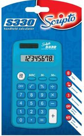Scripto S330 Calculator - Blue