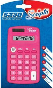 Scripto S330 Calculator - Pink