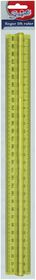 Scripto 30cm Finger Lift Ruler - Yellow