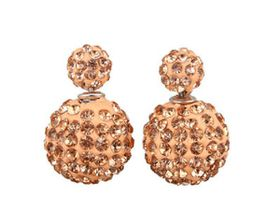 Skyla Jeweles Two-sided Gold Rhinestone Earrings