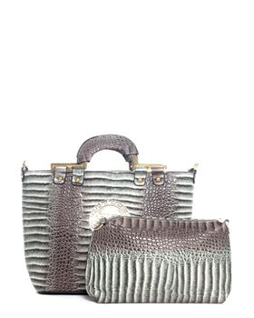 Brad's Camps Bay Crocodile Bag - Grey