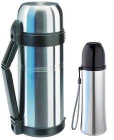 Isosteel - Vacuum & Quickstop Flasks Bundle - Silver