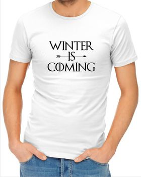JuiceBubble Mens Winter is Coming T-Shirt - White