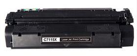 HP Compatible 15X (C7115X) Laser Toner Cartridge - Black