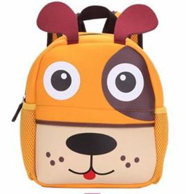 3D Animal Backpack for Toddlers Dog - Orange & Multi-Colour
