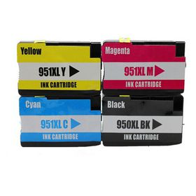Compatible Ink HP 950XL & 951XL Value Pack Combo Deal (B,C,M,Y) - Black & All Colours