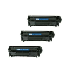 Compatible Laser Toners HP 12A / Q2612A Value Pack Combo Deal x 3