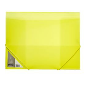 Meeco A4 Carry Folder with Elastic Closure - Yellow