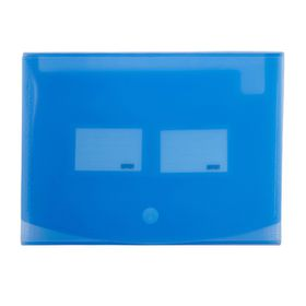 Meeco 12 Division Expanding File - Translucent Blue