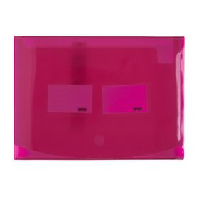 Meeco 12 Division Expanding File - Translucent Pink