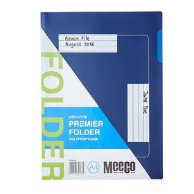 Meeco Executive Premier P.P Folder - Blue (10 Pack)