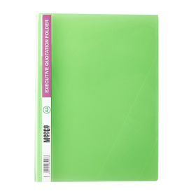 Meeco A4 Executive Quotation Folder - Green