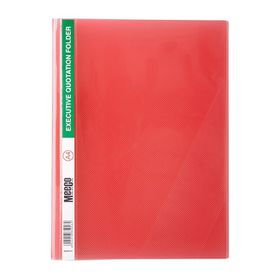 Meeco A4 Executive Quotation Folder - Red