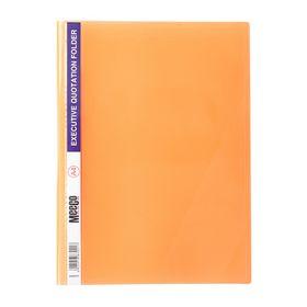 Meeco A4 Executive Quotation Folder - Orange