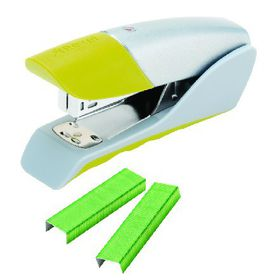 Rexel Gazelle Half Strip Stapler - Green