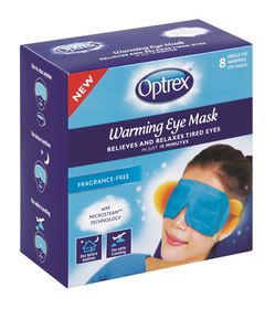 Optrex Warming Eye Mask - 8's Unscented Blue
