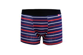 Undeez Online Navy, Red and White Stripes Boxer