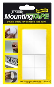 Alcolin Mounting Tape - 40 Pads
