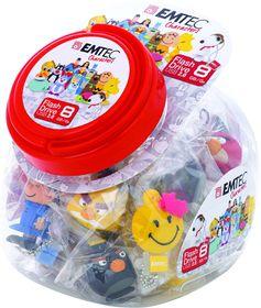 Emtec Candy Jar Mix of 25 Characters USB 8GB