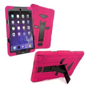 "Tuff-Luv Tri-Layer Survivor Rugged Case for the Apple iPad Pro 9.7"" - Pink/Black"