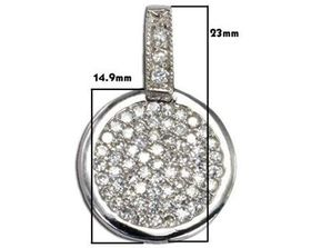 Miss Jewels 0.33ctw Cubic Zirconia Pendant in 925 Sterling Silver