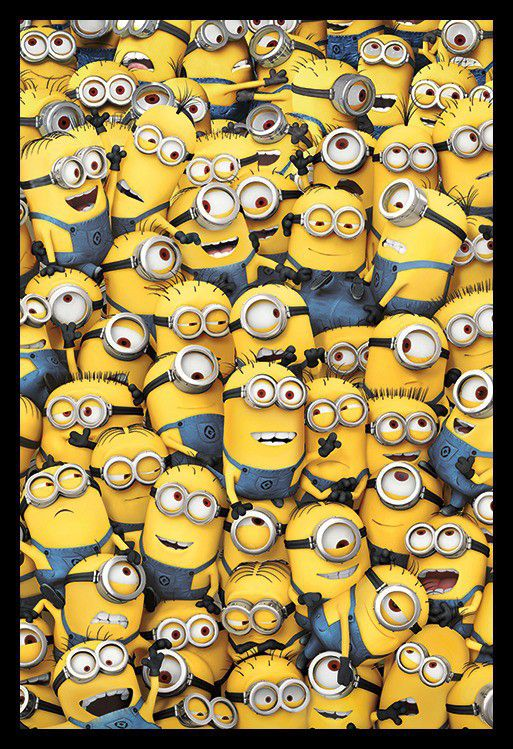 Minions - Many Minions Poster With Black Frame   Buy Online in South ...