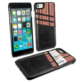 Tuff-Luv Alston Craig Slim Shell and Card Holder for Apple iPhone 7/8 - Black