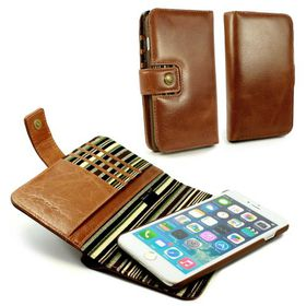 Tuff-Luv Alston Craig Magnetic Smart RFID Wallet for the Apple iPhone 7 Plus - Brown