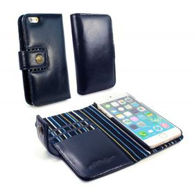 Tuff-Luv Alston Craig Magnetic Smart RFID Wallet for the Apple iPhone 7 - Navy Blue