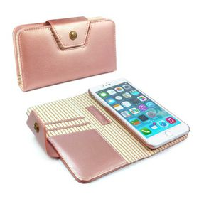 Tuff-Luv Alston Craig Ladies Magnetic Case for the Apple iPhone 7 - Rose Gold Stripe