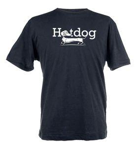 Hotdog Design Unisex Fit Short Sleeve T-Shirt - Black