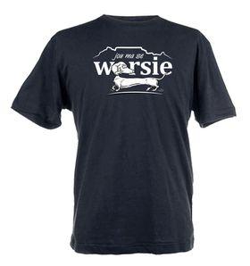 Jou Ma Se Worsie Design Unisex Fit Short Sleeve T-Shirt - Black