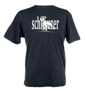 Schnauzer Design Unisex Fit Short Sleeve T-Shirt - Black
