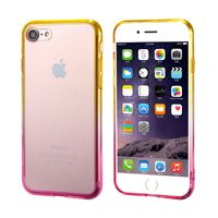 Ultra-Thin Case with Colour Frame for iPhone 7 - Yellow & Pink