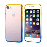 Ultra-Thin Case with Colour Frame for iPhone 7 - Yellow & Blue