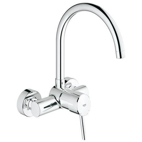 Grohe Concetto Wall Mounted Kitchen Tap High Spout Buy Online