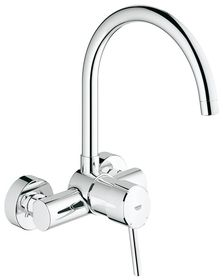 Grohe - Concetto Wall Mounted Kitchen Tap - High Spout