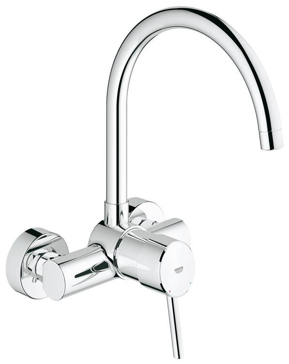 Grohe Concetto Wall Mounted Kitchen Tap High Spout