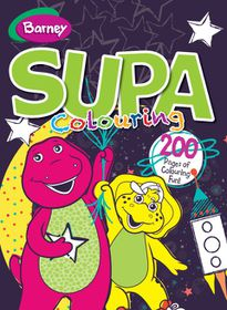 Barney 200 Page Supa Colour & Activity Book