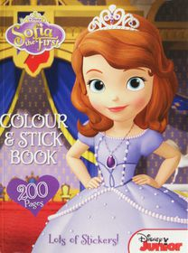 Disney Sofia The First 200 Page Colour & Stick Book